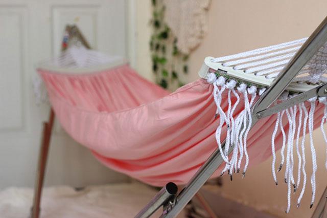 Võng xếp Trường Thọ khung inox vải cotton